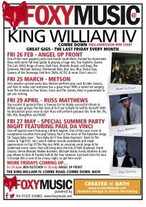 What's On – King William IV